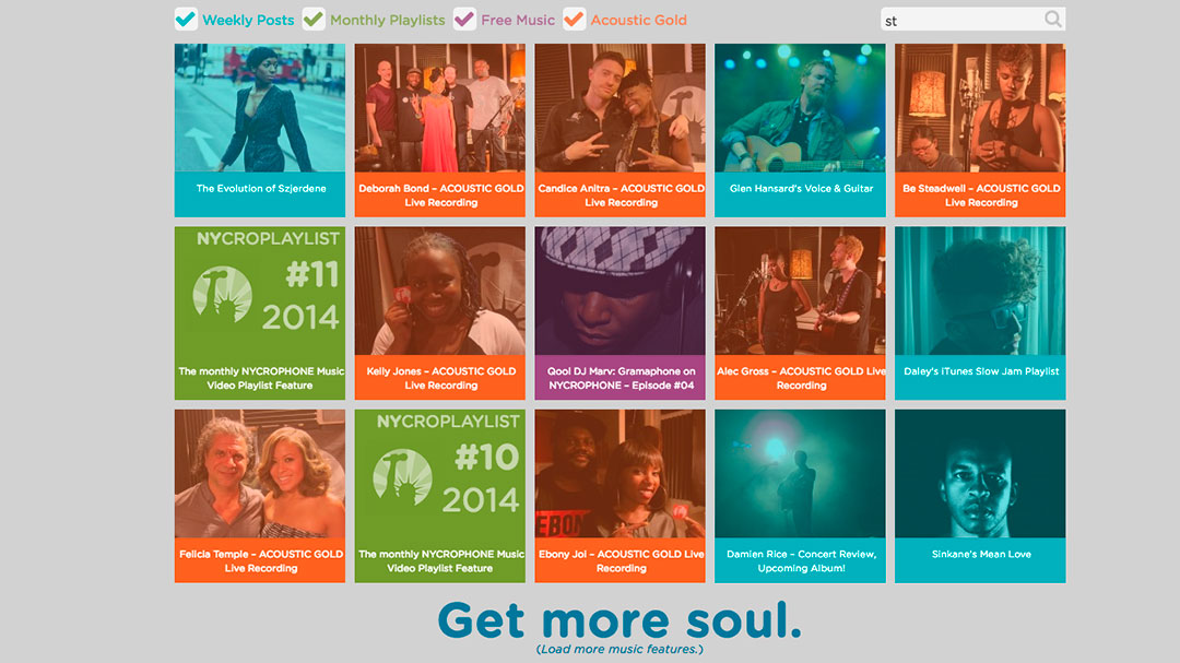 A colorful grid of soul music.